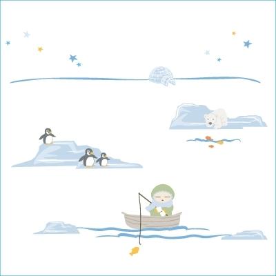 Stickers Petit eskimo bleu
