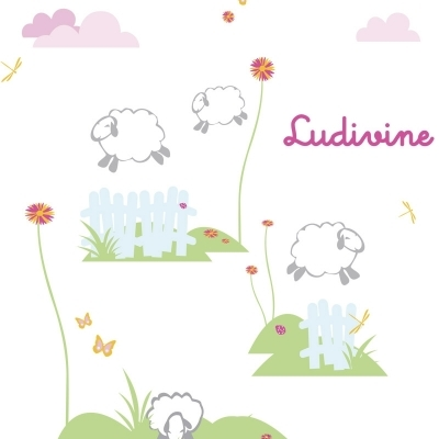Stickers saute mouton lili pouce boutique d co chambre - Stickers mouton chambre bebe ...