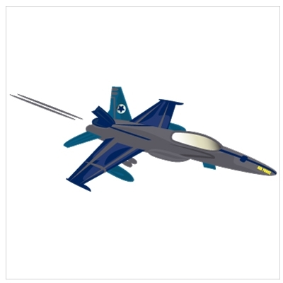 Stickers Un avion de chasse