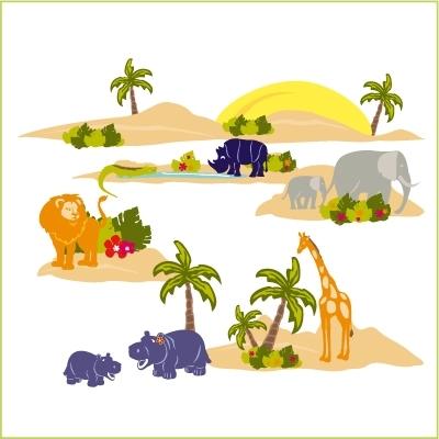 Stickers Voyage en Afrique