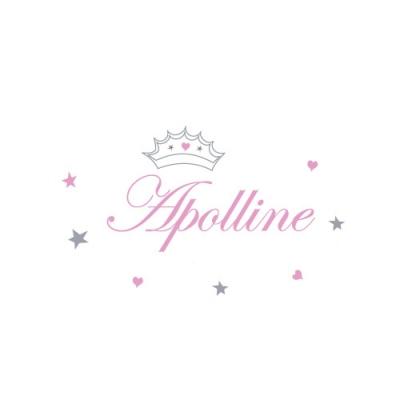 Stiker prénom princesse Apolline