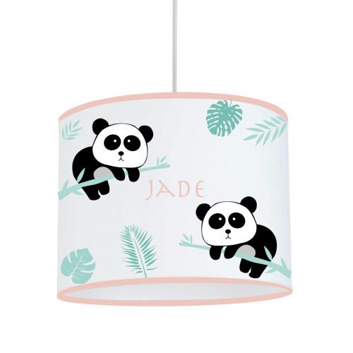 Suspension Panda rose personnalisable