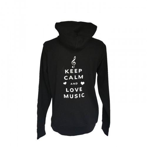 Sweat à capuche Keep calm and love Music