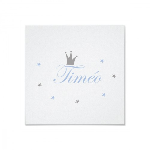 Tableau personnalisable prince Timéo bleu