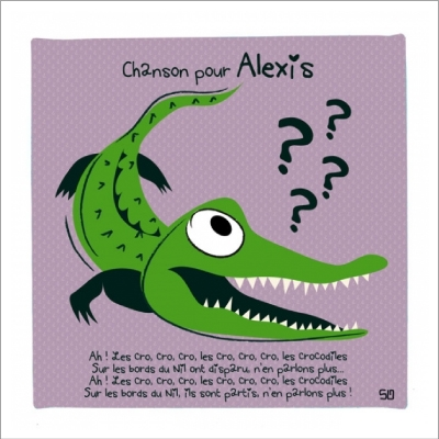 Tableau Ah les crocodiles personnalisable