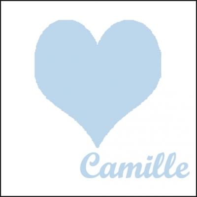 Tableau coeur bleu ciel