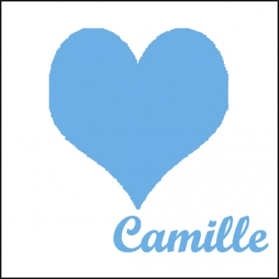 Tableau coeur bleu vif