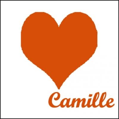 Tableau coeur orange