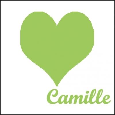 Tableau coeur vert