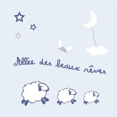 Tableau doux rêves bleus