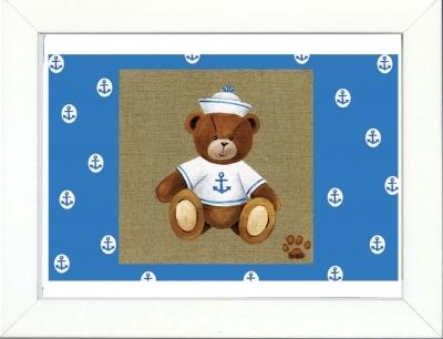 Tableau enfant encadré ours marin