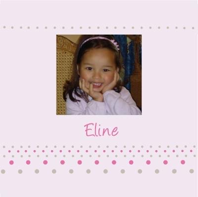 Tableau naissance avec photo Eline