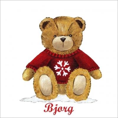 Tableau ours bjorg dans la neige