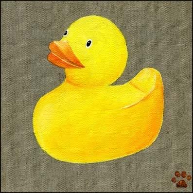 Tableau petit canard jaune