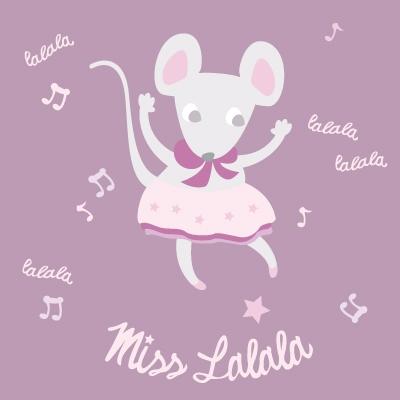 Tableau souris Lalala personnalisable au prénom de l'enfant
