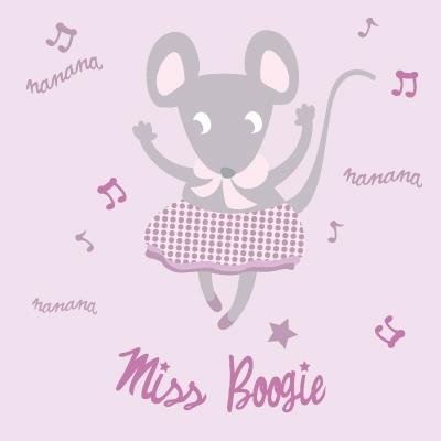 Tableau souris Miss Boogie personnalisable au prénom de l'enfant