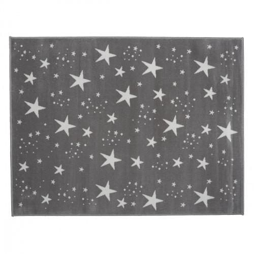 Tapis étoiles magiques gris foncé