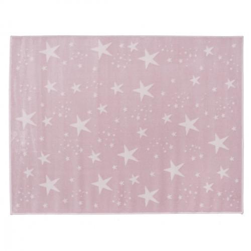 Tapis étoiles magiques rose pâle