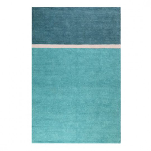 Tapis en coton design Calippo Kelim bleu turquoise