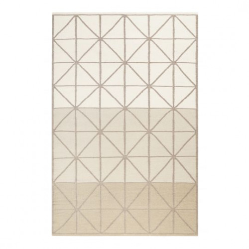 Tapis rayé design Noora Kelim beige