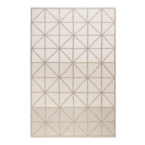 Tapis rayé design Noora Kelim gris