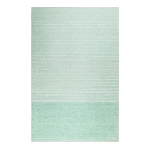Tapis rayé design Waves Kelim vert menthe