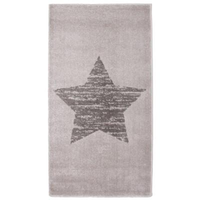 Tapis étoile Lucero gris