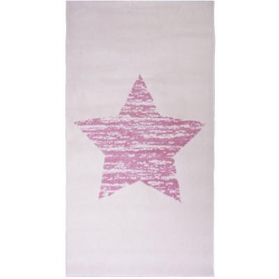 Tapis étoile Lucero rose