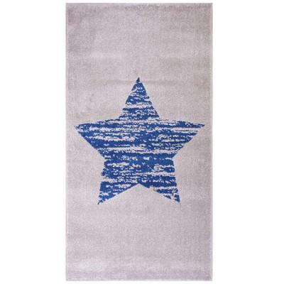 Tapis étoile Lucero bleu