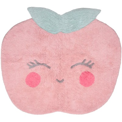 Tapis Candy Apple rose en coton