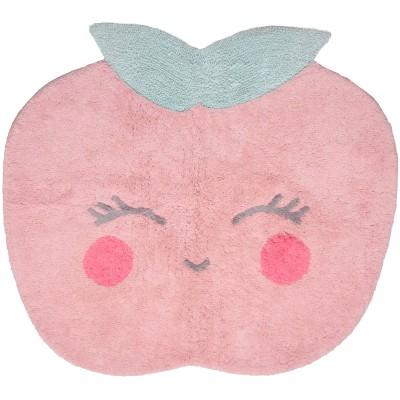 Tapis Candy Apple rose en coton