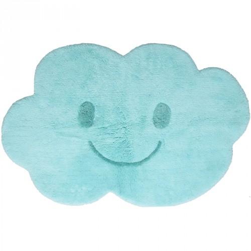 Tapis en coton nuage Nimbus bleu