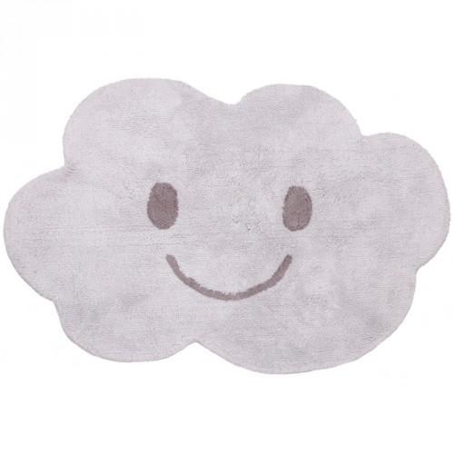 Tapis en coton nuage Nimbus gris