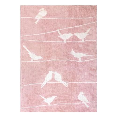 Tapis Oiseaux roses