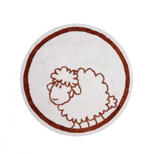 Tapis enfant coton rond mouton