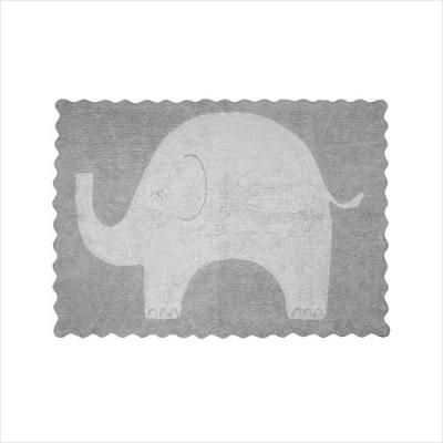 Tapis éléphanteau gris