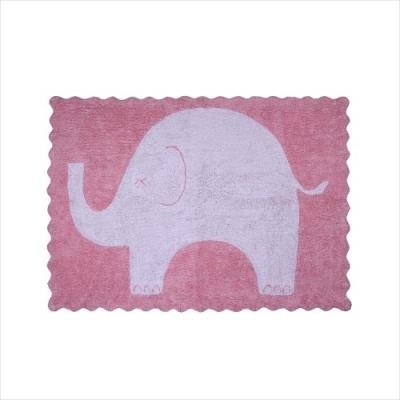 Tapis éléphanteau rose