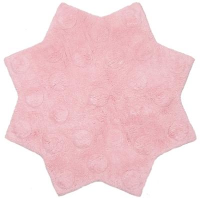 Tapis Little Stella rose en coton