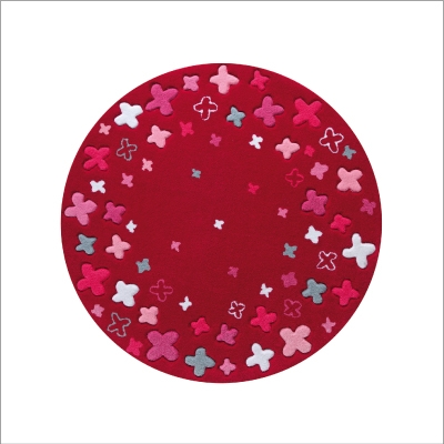 Tapis Bloom Field rouge