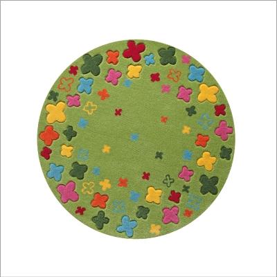 Tapis Bloom Field vert