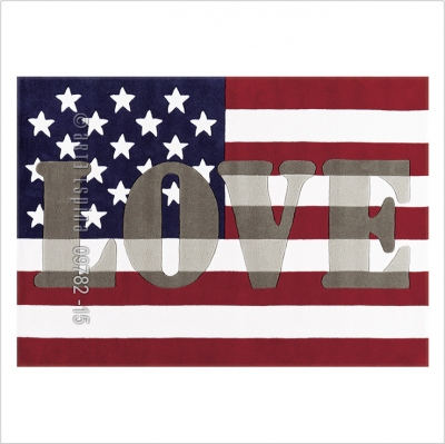 Tapis américa love par Arte Espina