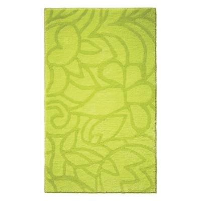 Tapis de bain antidérapant Flower Shower vert anis