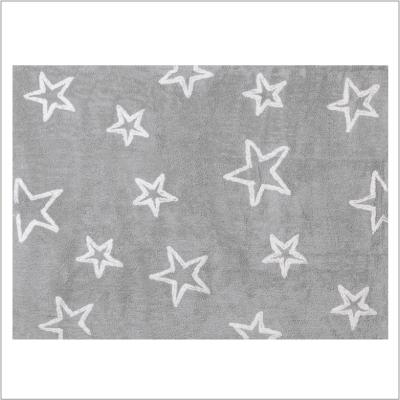 Tapis enfant coton étoiles Esterella gris