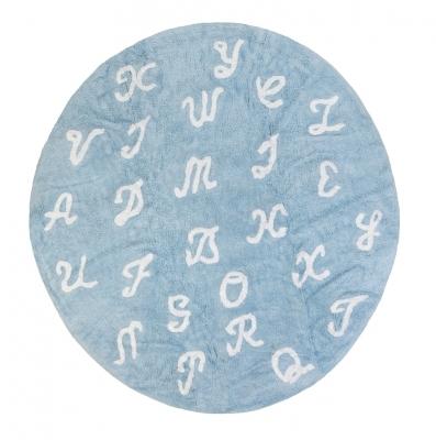 Tapis Lettres bleu