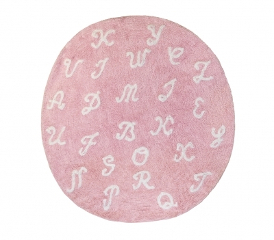 Tapis Lettres rose