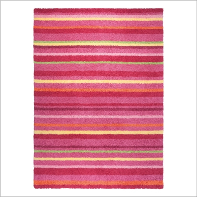 Tapis Funny Stripes rose