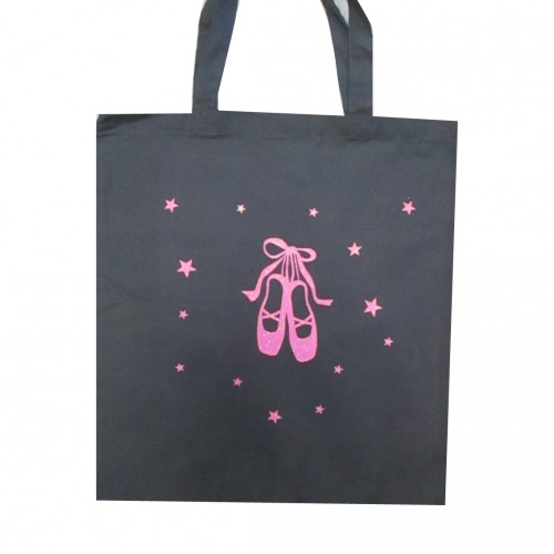 Tote Bag chaussons danse rose fluo