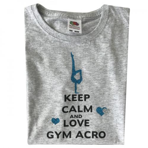 Tee shirt Keep calm and love Gym Acro