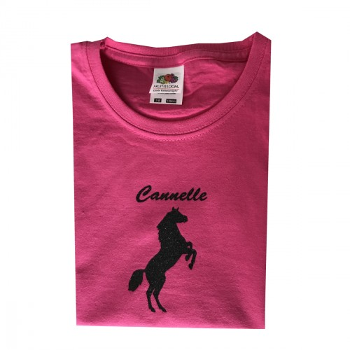 Tee shirt licorne pailleté Cannelle