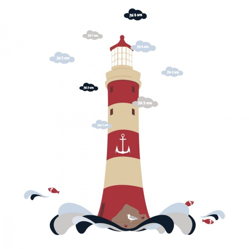 Stickers Toise le phare marin